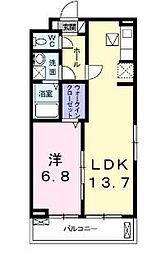 JR東海道本線 大磯駅 5.1kmの賃貸アパート 3階1LDKの間取り