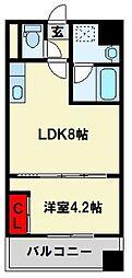 ノースステイツ浅生[602号室]の間取り