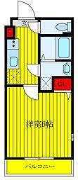 JR京浜東北・根岸線 王子駅 徒歩10分の賃貸マンション 2階1Kの間取り