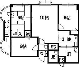 TOAマンション[00501号室]の間取り