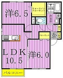 [テラスハウス] 千葉県柏市東逆井1丁目 の賃貸【/】の間取り