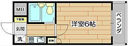 土室マンション[2階]の間取り