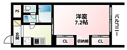 Osaka Metro御堂筋線 江坂駅 徒歩15分の賃貸アパート 3階1Kの間取り