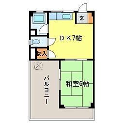小澤マンション[301号室]の間取り