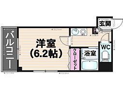 KT大橋[402号室]の間取り