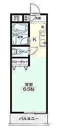 埼玉県鴻巣市吹上富士見1丁目の賃貸アパートの間取り