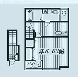 埼玉県川口市青木の賃貸アパートの間取り