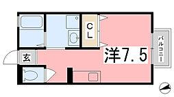 メゾンドール[101号室]の間取り
