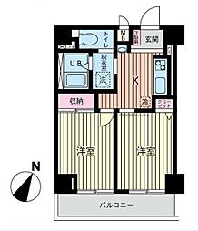 神奈川県横浜市南区南太田1丁目の賃貸マンションの間取り