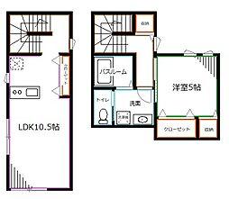 JR中央本線 西荻窪駅 徒歩5分の賃貸アパート 3階1LDKの間取り