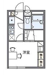 レオパレスコートヒル[1階]の間取り