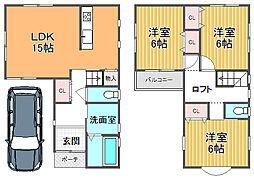 近鉄南大阪線 高見ノ里駅 徒歩15分 3LDKの間取り