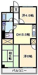 カーサワカバヤシ[3階]の間取り