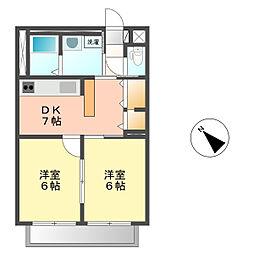 サンシャインⅡ[2階]の間取り