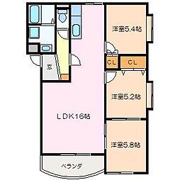 WOODS HOUSE[2階]の間取り