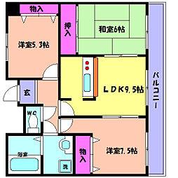 兵庫県神戸市東灘区御影本町3丁目の賃貸マンションの間取り