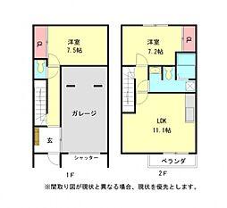 愛知県一宮市あずら1丁目の賃貸アパートの間取り