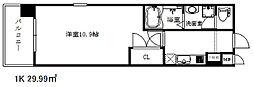エスライズ新神戸[3階]の間取り