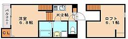 仮)麦野メゾネットアパート[1階]の間取り