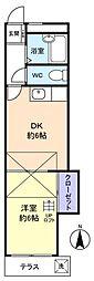 パレス八千代台[1階]の間取り