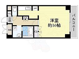 北大阪急行電鉄 桃山台駅 徒歩7分の賃貸マンション 2階ワンルームの間取り