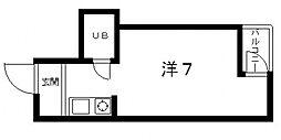 レディース大鉄[402号室号室]の間取り
