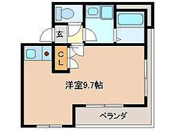 UMビル AKURAGAWA[3階]の間取り