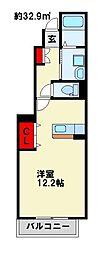 プラスパーA[1階]の間取り
