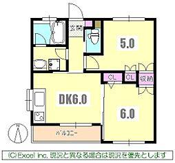東京都八王子市子安町2丁目の賃貸マンションの間取り