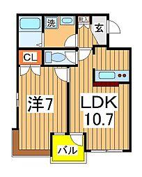 スぺリオK−1[2階]の間取り