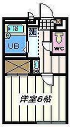 東京都足立区舎人1丁目の賃貸アパートの間取り