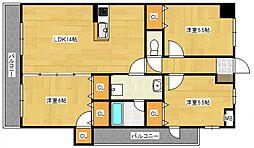 クレールヴィラ[1階]の間取り