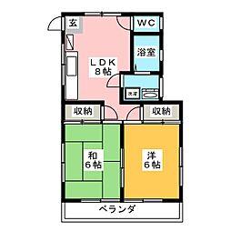 クリオ・ST・ハイツII[1階]の間取り