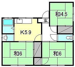 [一戸建] 愛媛県松山市桑原3丁目 の賃貸【愛媛県 / 松山市】の間取り