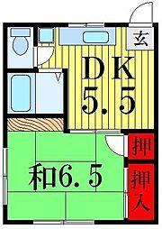 コーポ平井[3階]の間取り