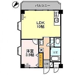 コーポ朝倉[101号室号室]の間取り