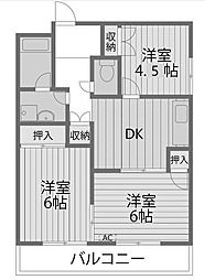 アリエス町田[3階]の間取り