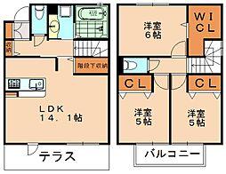 サンタガーデン[2階]の間取り