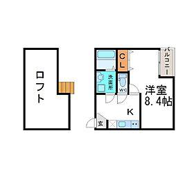 アクロス尼崎アパートメント[2階]の間取り