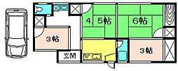 [一戸建] 京都府城陽市平川鍜治塚 の賃貸【/】の間取り