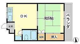 兵庫県姫路市田寺5丁目の賃貸マンションの間取り