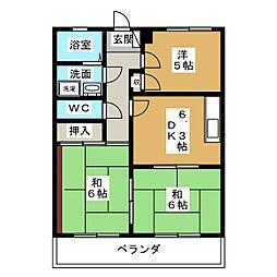 ロイヤル浅野[3階]の間取り