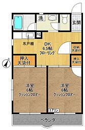 菅マンション[101号室]の間取り