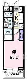 サニーレジデンス稲田本町[101号室号室]の間取り