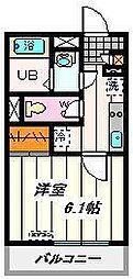 埼玉県川口市中青木2丁目の賃貸マンションの間取り