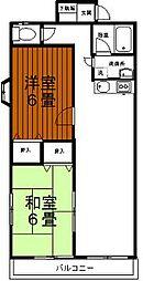 東京都あきる野市秋川5丁目の賃貸アパートの間取り