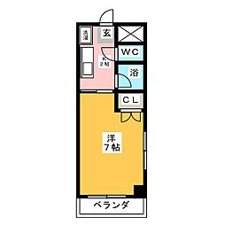 ハイツ竹長[2階]の間取り