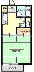 香川県高松市三条町の賃貸アパートの間取り