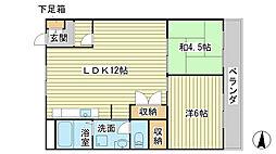 兵庫県たつの市神岡町東觜崎の賃貸マンションの間取り