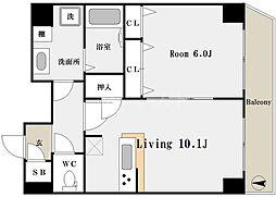 大国町駅 9.6万円